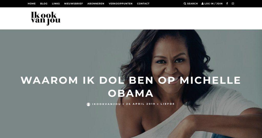 Ik ook van jou - Waarom ik dol ben op Michelle Obama