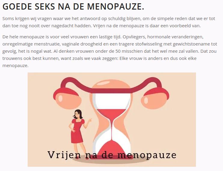Goede seks na de menopauze