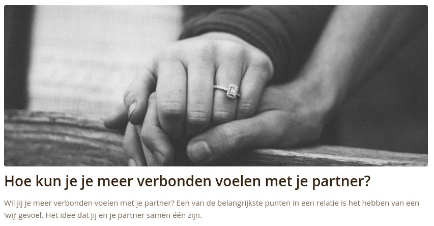 Hoe kun je je meer verbonden voelen met je partner?